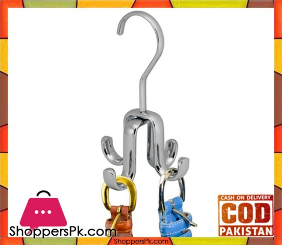 Axis Rod Closet Organizer Hook 4 Hanger, Chrome