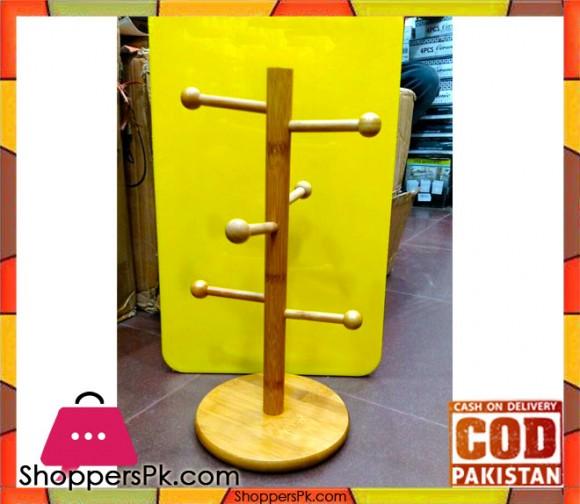 Bamboo Wooden Mug Stand