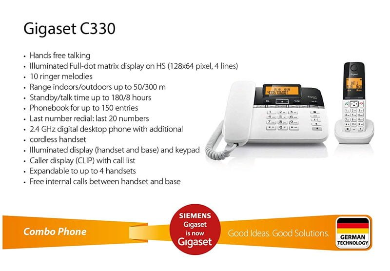 Corded Cordless Dual Gigaset Telephone C330 in Pakistan