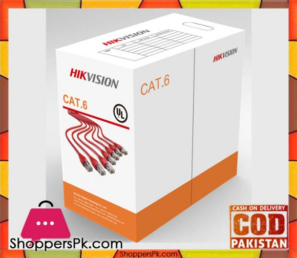 HIK Vision - Cat 6 - Network 4 Pairs Cable - 305 Meter in Pakistan