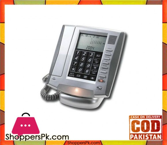 LCD Touch Panel Telephone With 8 Digit Calculator