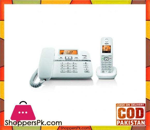 C330 - Corded Plus Cordless Dual Gigaset Telephone - White
