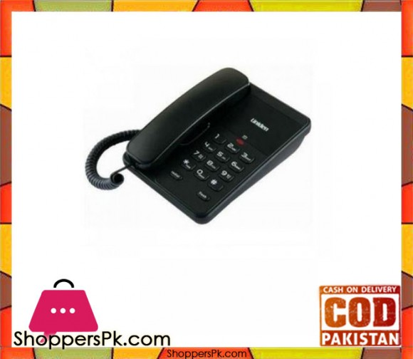 Single Line Corded Phone - Black