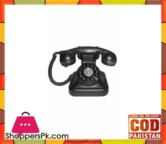 Antique Design Corded Phone - Vintage 20 - Black