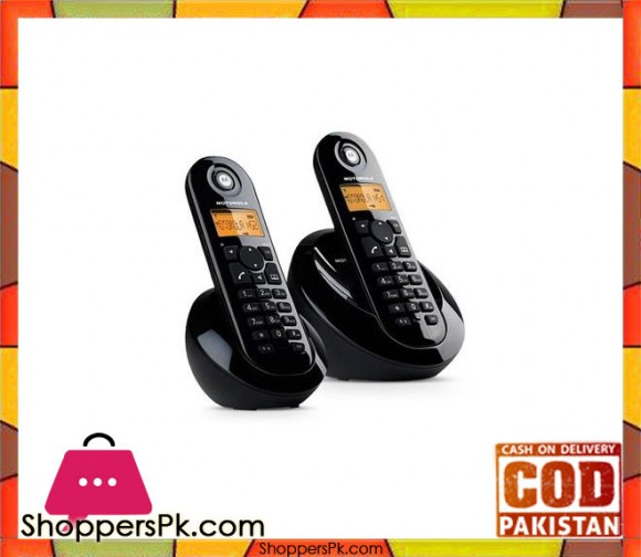 Wireless/Cordless Dual Digital Phone - C602 - Black