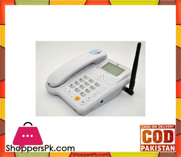 ETS5623 GSM Fixed Wireless Terminal / Wireless Cum Sim Mobile Phone - White