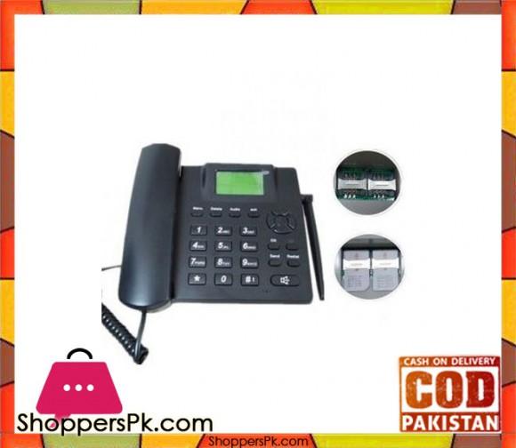 ZT600G GSM Fixed Wireless Terminal / Wireless Dual Sim Mobile Phone - Black