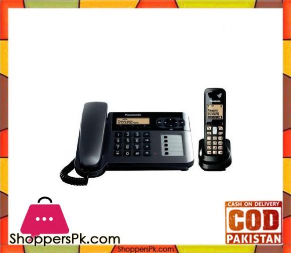 3651 - Corded and Cordless Landline Phone - Black