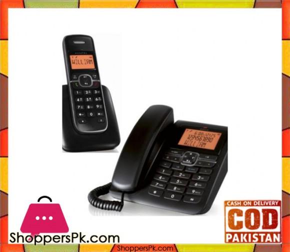 1350 - Office Combo - Telephone Set & Cordless - Black