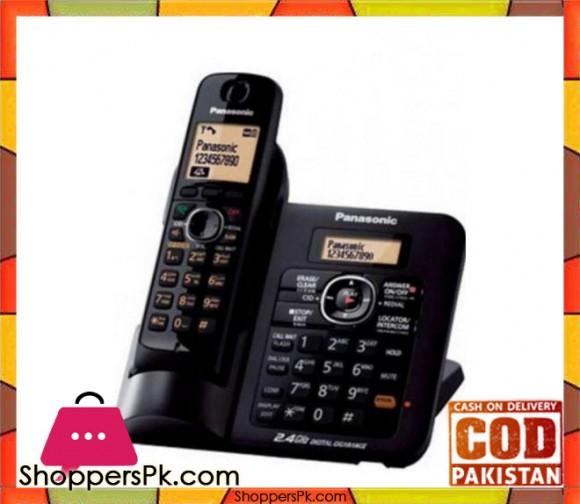 KX-TG3811 - Cordless Phone - Black - ( Brand Warranty )
