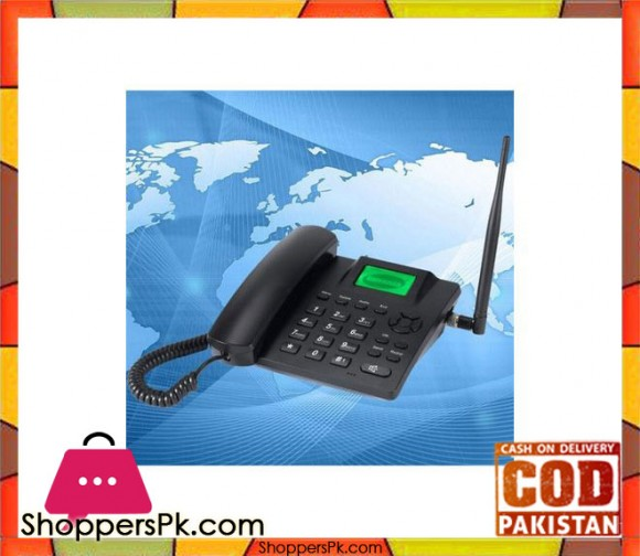 Land-line Wireless Rechargeable Phone - Black