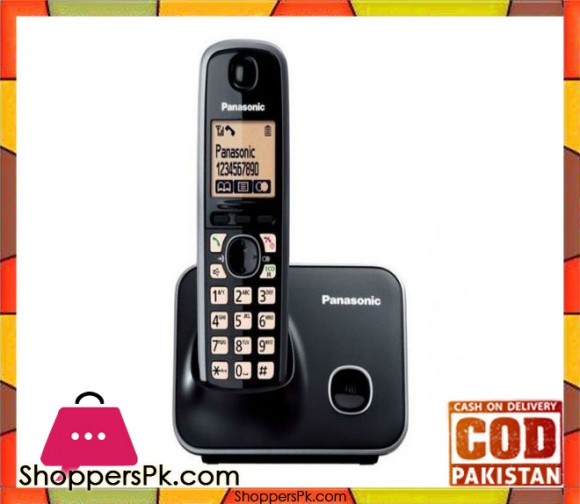 KX-TG3711BX - Single Line Digital Cordless Telephone - 2.4GHz - Black