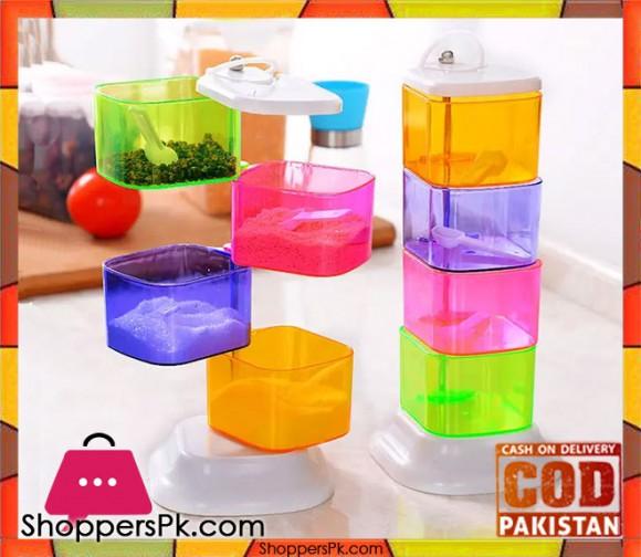 Multicolour Rotating Acrylic Spice Rack