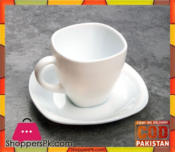 Opal Sqaure 6 Cup & 6 Saucer