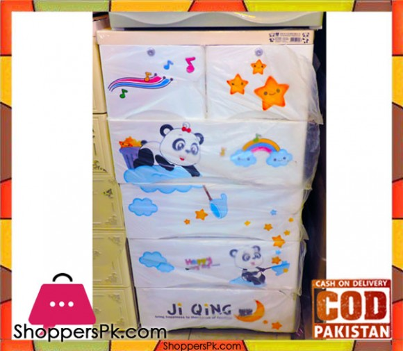 Portable Drawer Panda Print