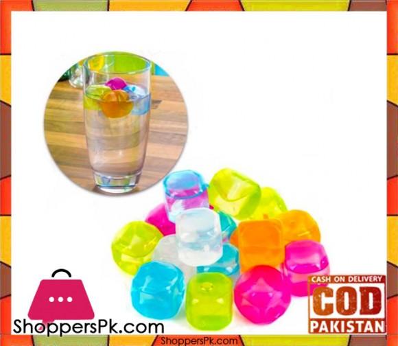 Resusable Multicolour 12 Pieces Ice Cubes