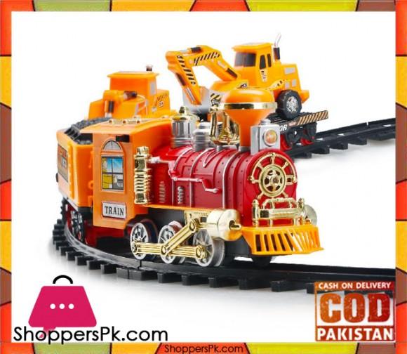 Train Set Engineering Kids Toys Electric Smoke