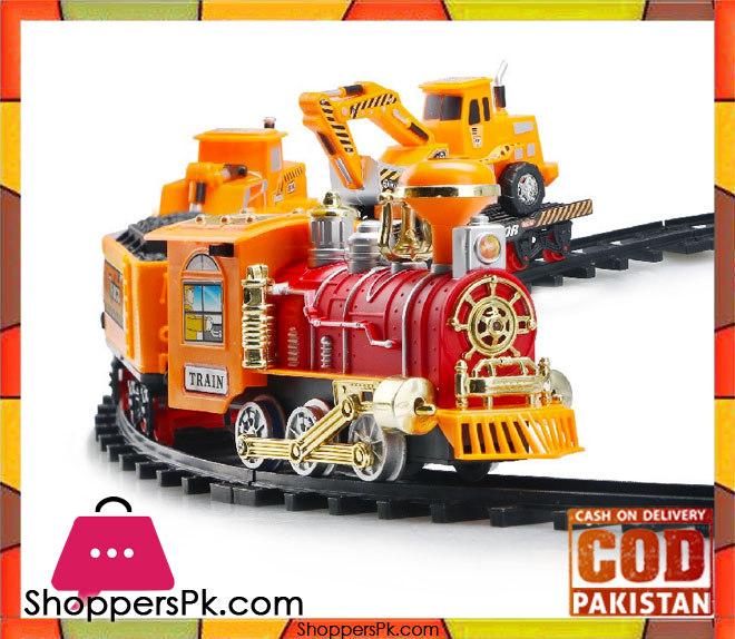 Buy Train Set Engineering Kids Toys Electric Smoke At Best Price In