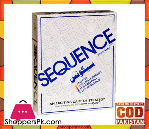 Arabic and English Version Sequence Puzzle Game For 2-12 Players 8001