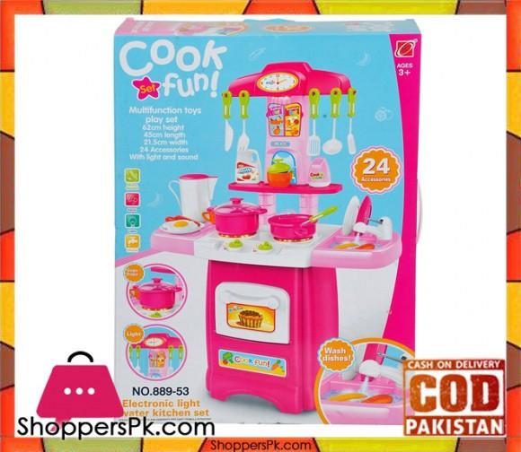 Cook Fun Kitchen Play Set 24 Accessories