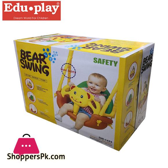 Edu Play Outdoor Baby Swing Bear Kids Swing 3 in 1 Safety Swing - SW-1424 Korea Made