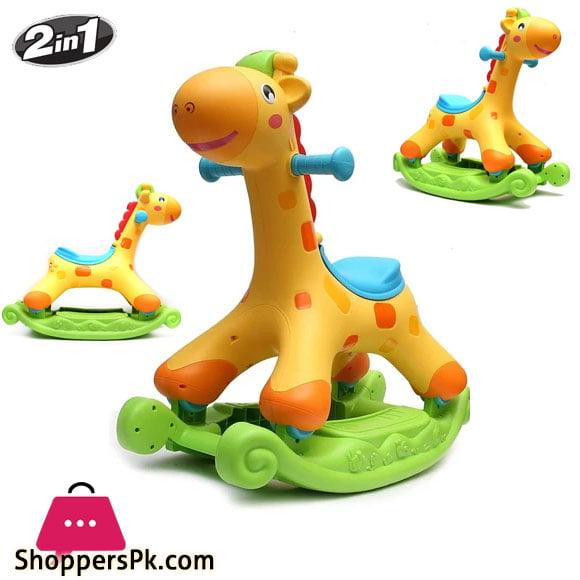 Evergreen 2 in 1 Rocker & Scoot Rocking Tunes Giraffe