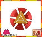 Hand Fidget Spinner - Golden Pyramid On Red Metal