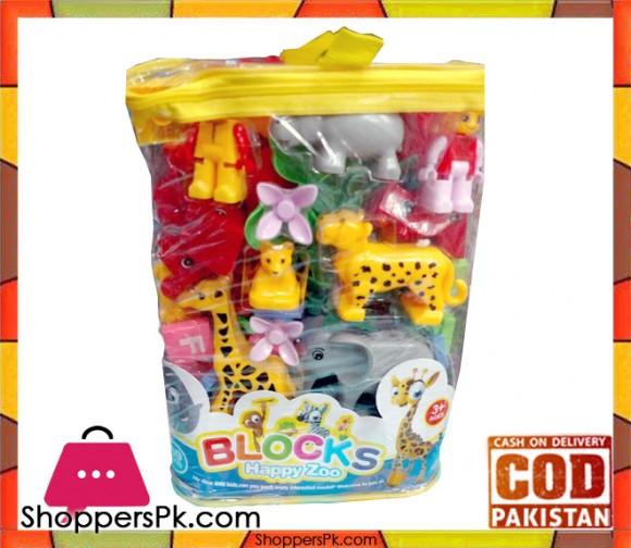 Happy Zoo Block For Kid 69 Pieces