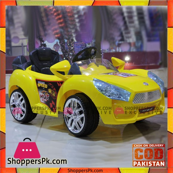 Hot Racer Ride On Car Rechargeable Battery Operated – Yellow