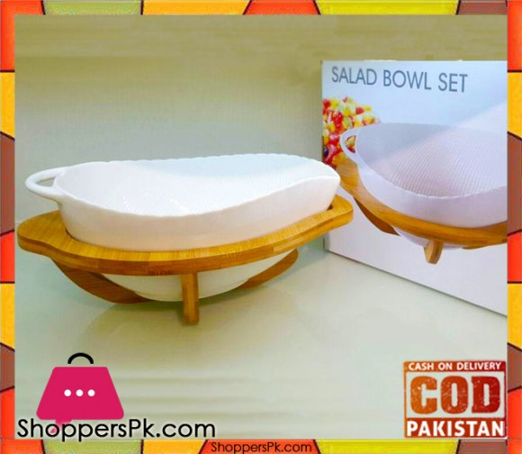 Imperial Salad Bowl Set Wooden Stand