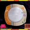High Quality Melamine Square Rice Plate 12 Pieces Orange