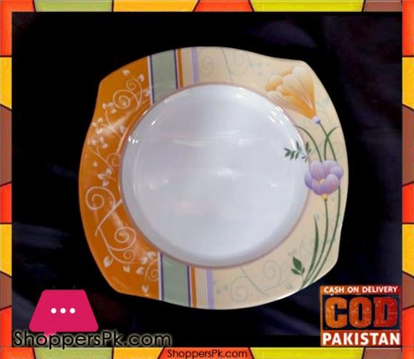High Quality Melamine Square Rice Plate 12 Pieces Orange