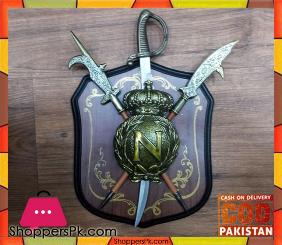 Wall Decoration Wooden Shield (101)