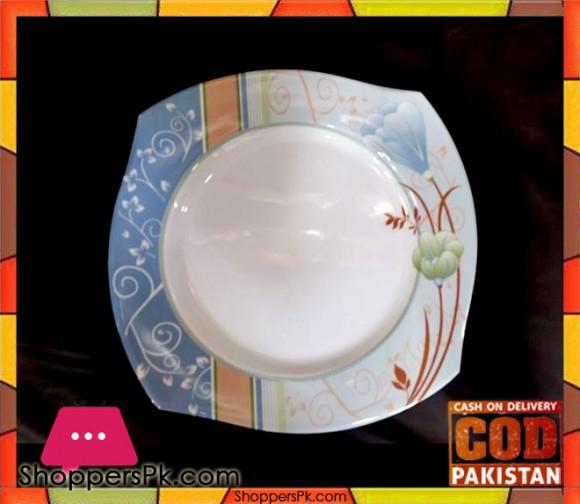 High Quality Melamine Square Rice Plate 12 Pieces Blue