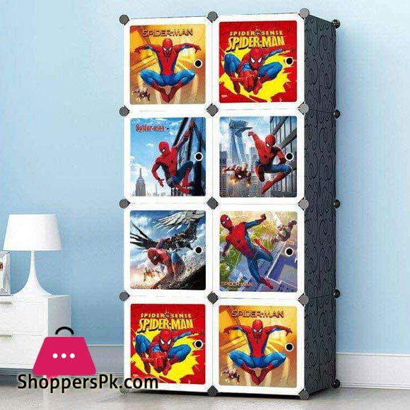 Portable 8 Cube Cabinet Spider-Man