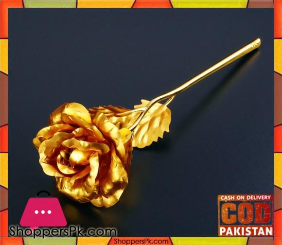 Romantic 24 K Golden Rose