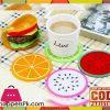 Silicone Fruits Tea Mat 6 Pieces