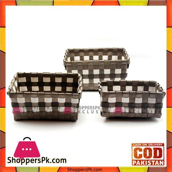 3 Pcs Basket Set