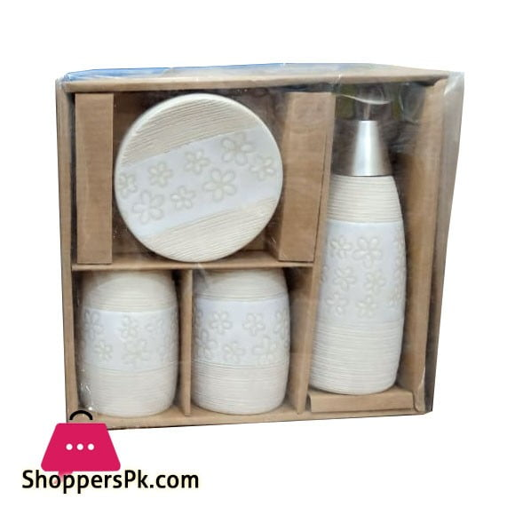4 Pieces Ceramic Bathroom Set BN7