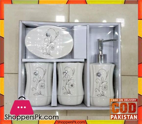4 Pieces Ceramic Bathroom Set NA2