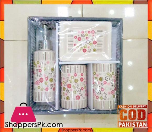 4 Pieces Ceramic Bathroom Set BN5