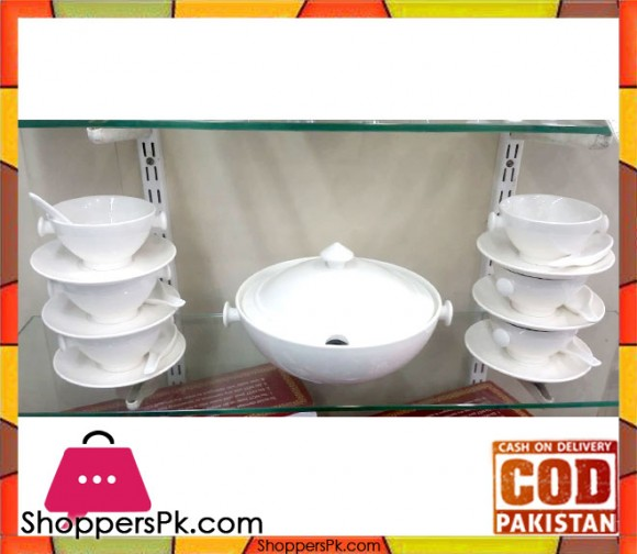 Brilliant Soup Set 21 Pieces - White