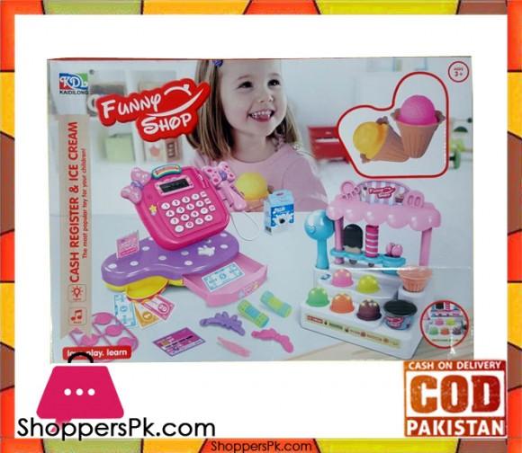 Ice Cream Shop & Cash Register Toy Play Set for Kids KDL-888-15