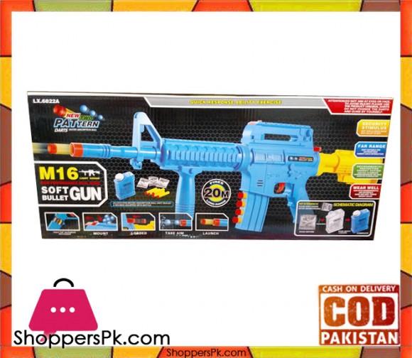 M16 Light Sound Shooting Toy Soft Bullet Gun
