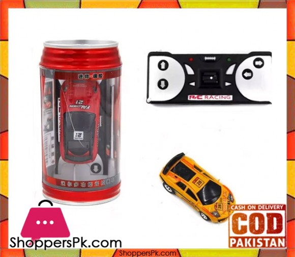 Mini Radio Remote Control Racing Coke Can Car with LED Light