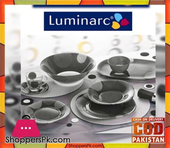 Luminarc Glassware Black Square Dinner Set 71 Pieces - 8 Person