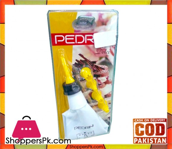 Pedrini 4 Nozzles Pastry Cake Decorator Icing Bag