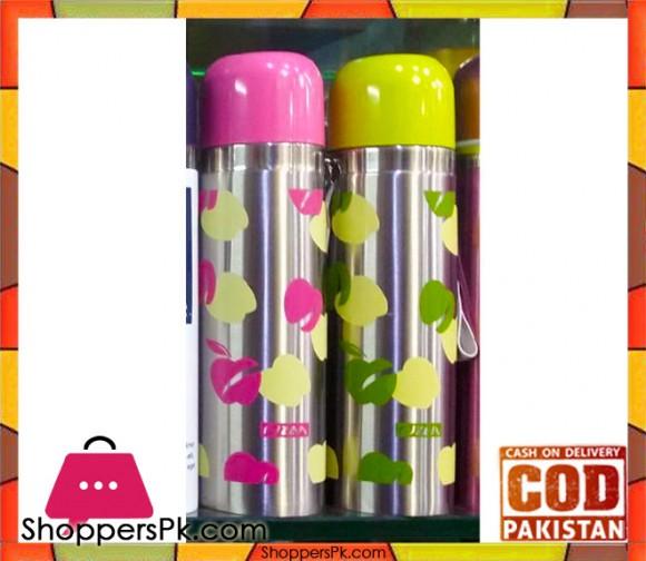 Stainless Steel Flower Print Vacuum Bottle 500ml