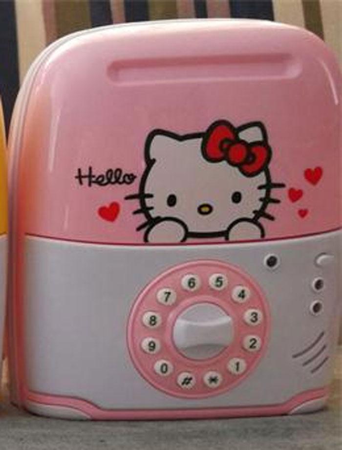 Trolley Case Saving Box for Kids Hello Kitty
