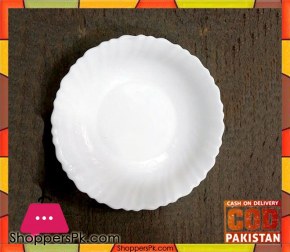 White Serving Plate 12 Pieces Small